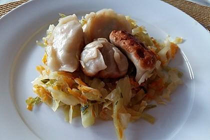 Chinesische Teigtaschen Jiaozi, Dumplings, Pot Sticker-Version 4