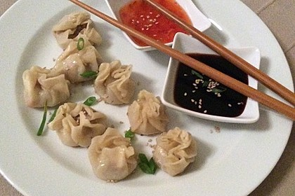 Chinesische Teigtaschen Jiaozi, Dumplings, Pot Sticker-Version 1