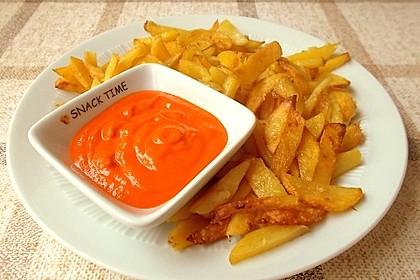 Mojo rojo zu Kartoffelspalten (Bild)