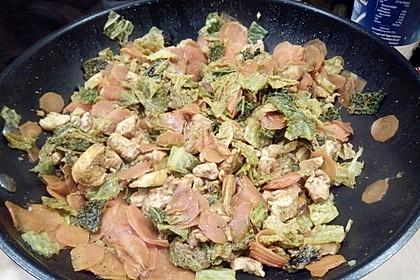 Grünkohl-Wok mit Pute 2
