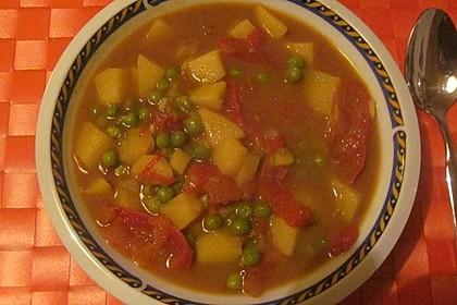 Kartoffelcurry mit Erbsen und Tomaten 6
