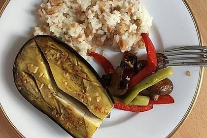 Gebackene Auberginen mit Bulgur-Salat 4