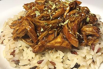 Hähnchen Teriyaki auf Reis (Bild)