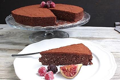 Schokoladenkuchen - glutenfrei, ohne Zuckerzusatz
