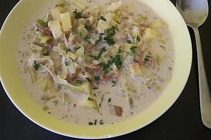Vegane Lauch-Käse-Hack Suppe 2