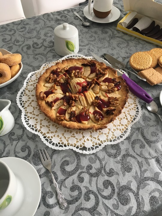 Apfelkuchen Mit Karamellisierten Walnussen Und Gelee Von Yasmin0815