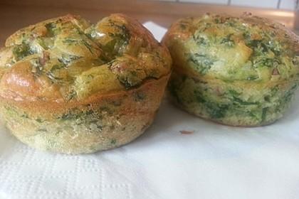 Rahm-Spinat-Muffins 1
