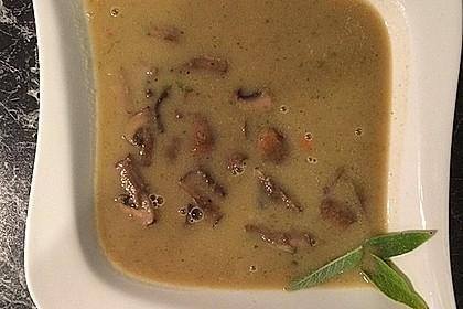 Champignon-Salbei-Bohnensuppe