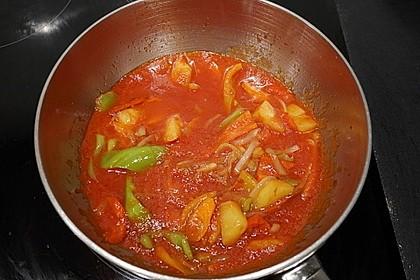 Gemüse und Ananas in süßsaurer Sauce (Bild)