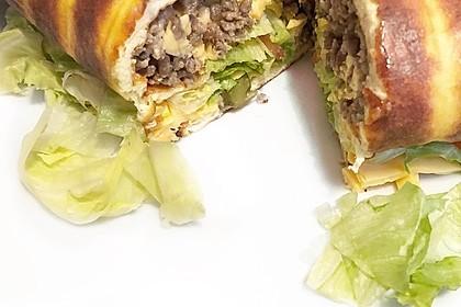Low-Carb Big Mac Rolle (Bild)