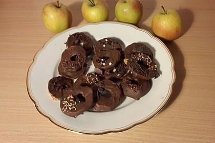 Schokolierte Apfelringe
