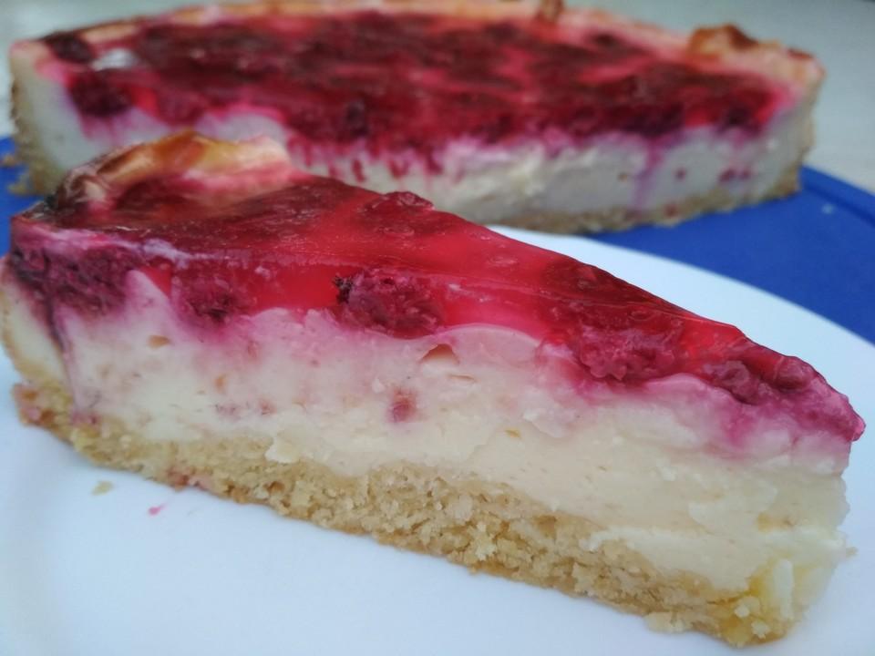Pudding Schmand Kuchen Mit Himbeeren Von Zimmerhexe Chefkoch De
