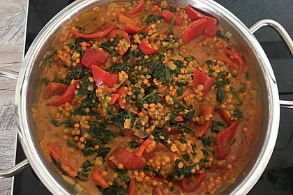 Einfaches Rote-Linsen-Spinat-Curry 5