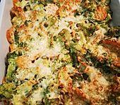Gemüseauflauf mit Frischkäse (Bild)