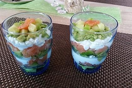 Lachstürmchen mit Guacamole
