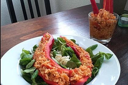 Tomatenreis in Spitzparika