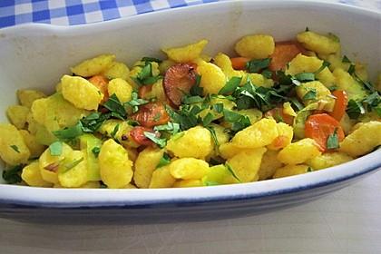 Curry-Nudelauflauf mit Möhre und Porree 1