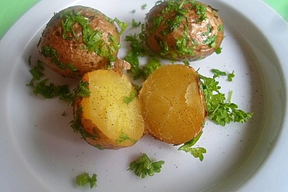 Petersilienkartoffeln in Albaöl gebraten 1