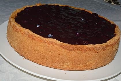 Topfenkuchen mit Blaubeerguss 1