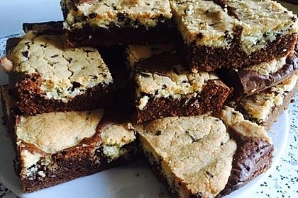 Brookies - Brownies mit knuspriger Cookie-Kruste (Bild)