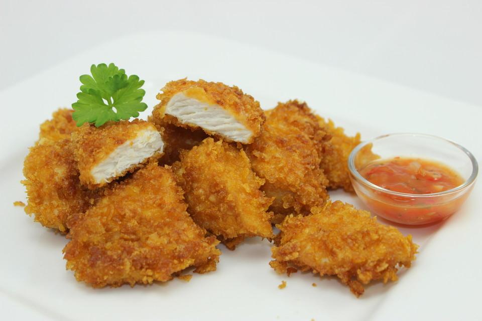 Knusprige-Chicken-Nuggets-selber-machen