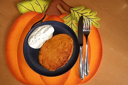 Pumpkin Patties - würzige Kürbis-Puffer (Bild)