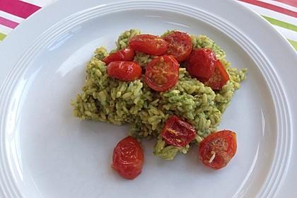 Bärlauch-Risotto mit geschmolzenen Tomaten 1