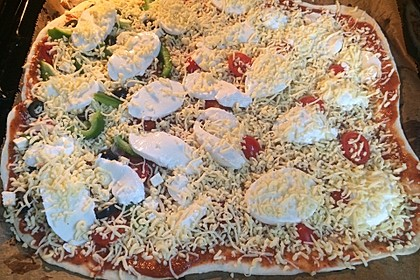 American Pizza Teig selber machen 9