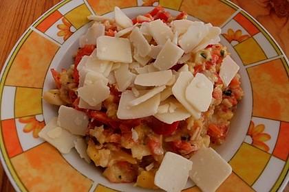 Flusskrebs-Salat mit Apfel, Mango und Paprika 1
