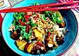 Glasnudelsalat mit Mango und Teriyaki-Tofu