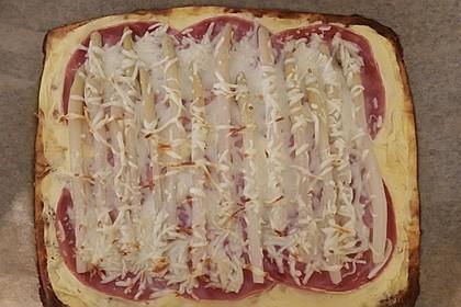 Low-Carb Spargelpizza 1