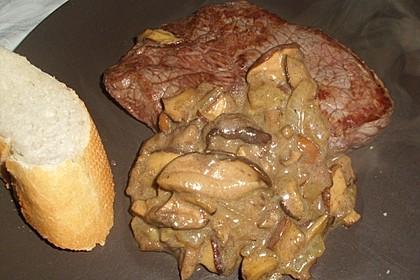 Rindersteak mit Pilzen