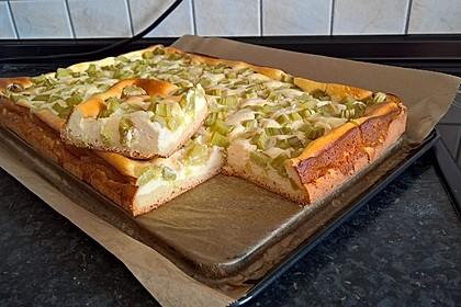 Rhabarber-Quarkkuchen auf Hefeteig 1