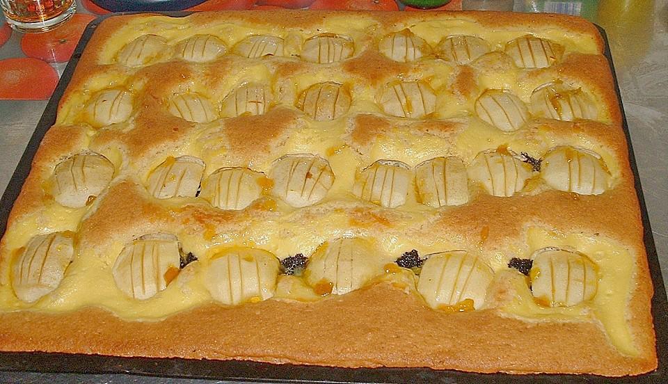 Apfel Mohn Marzipan Blechkuchen Von Floo Chefkoch De