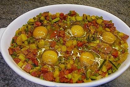 Eier im Gemüsebett 4
