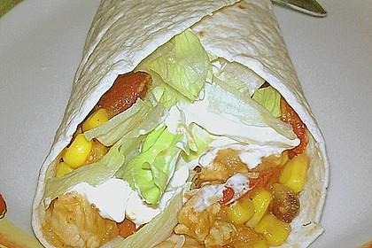 Mexikanische Tortilla - Wraps mit Hähnchenfüllung 3