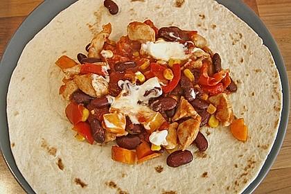 Mexikanische Tortilla - Wraps mit Hähnchenfüllung 6