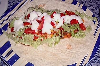 Mexikanische Tortilla - Wraps mit Hähnchenfüllung 9