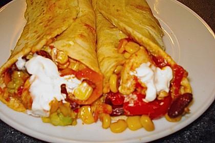 Mexikanische Tortilla - Wraps mit Hähnchenfüllung 25