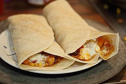 Mexikanische Tortilla - Wraps mit Hähnchenfüllung 15