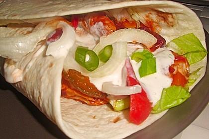 Mexikanische Tortilla - Wraps mit Hähnchenfüllung 10