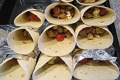 Mexikanische Tortilla - Wraps mit Hähnchenfüllung 19