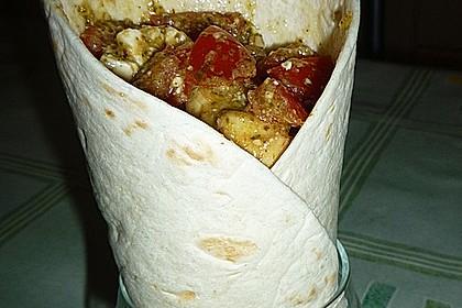 Mexikanische Tortilla - Wraps mit Hähnchenfüllung 12