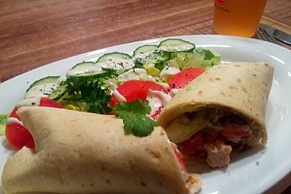 Mexikanische Tortilla - Wraps mit Hähnchenfüllung 2