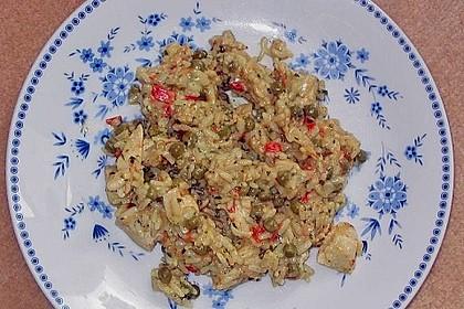 Reispfanne mit Gemüse und Hühnchen 11