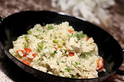 Reispfanne mit Gemüse und Hühnchen 2