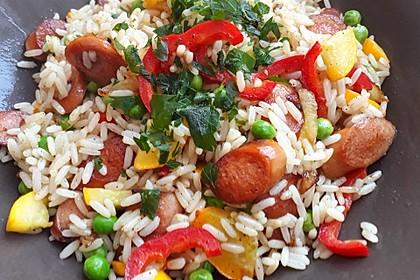 Reispfanne mit Gemüse und Hühnchen 6