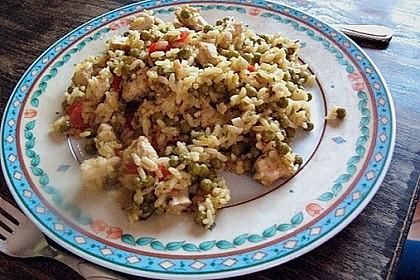 Reispfanne mit Gemüse und Hühnchen 9