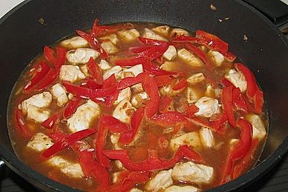 Reispfanne mit Gemüse und Hühnchen 17