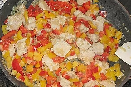 Reispfanne mit Gemüse und Hühnchen 16